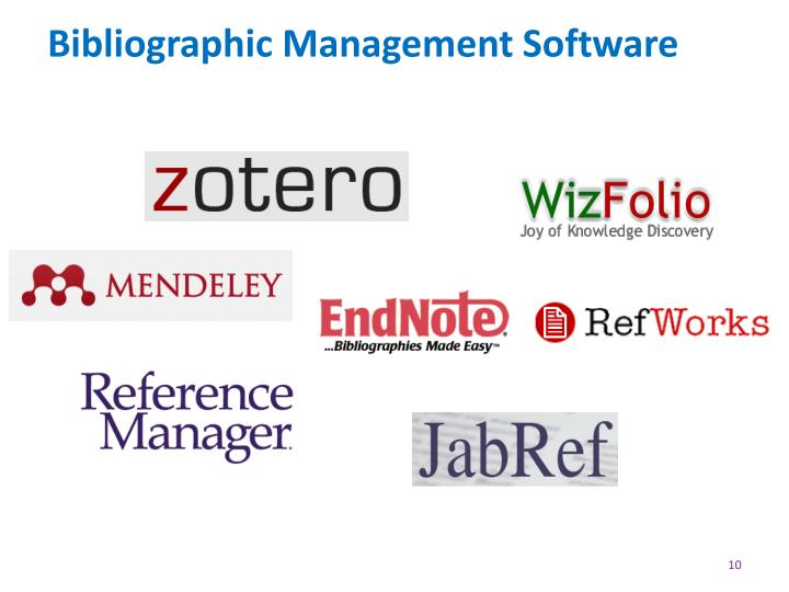 Bibliographic Management Software