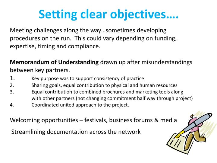 Setting clear objectives….