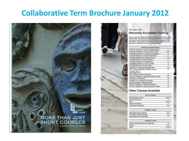Collaborative Term Brochure January 2012