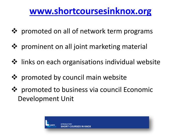 www.shortcoursesinknox.org