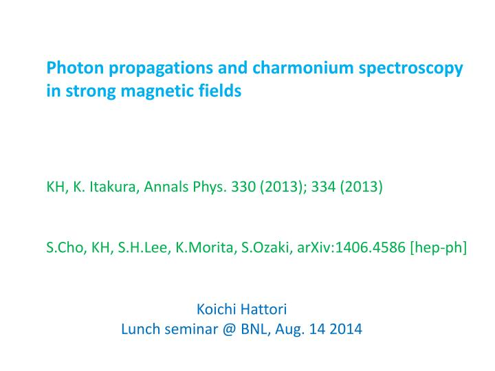 Photon propagations and