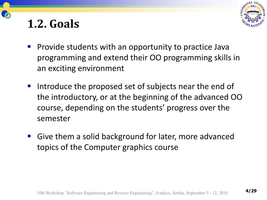 PPT - New topic for Java course: Introduction to 3D graphics