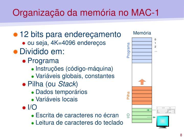 Organização da memória no MAC-1