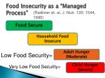 food insecurity as a managed process
