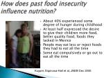 how does past food insecurity influence nutrition