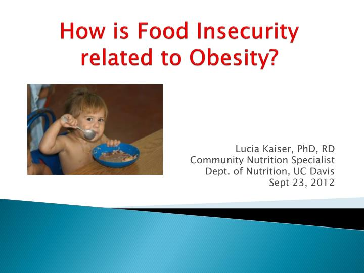 how is food insecurity related to obesity