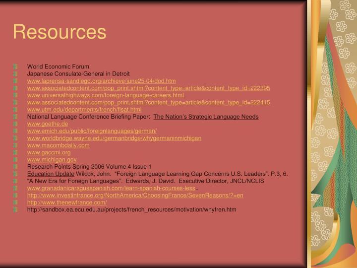 Resources