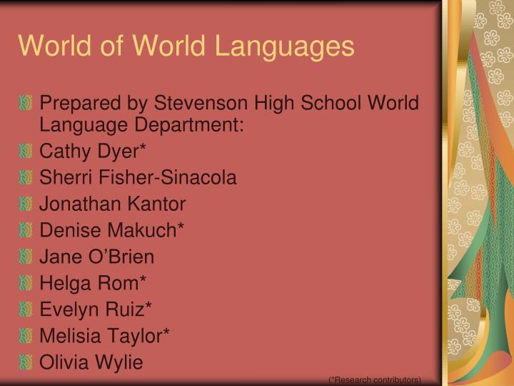 World of World Languages
