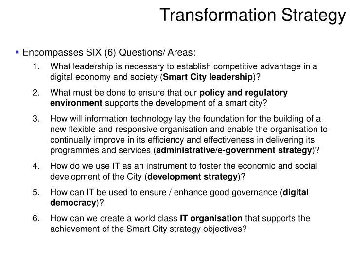 Transformation strategy