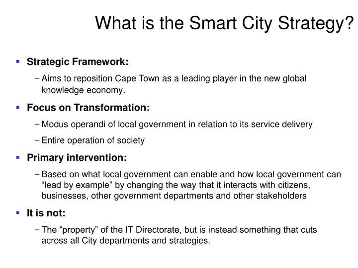 What is the smart city strategy