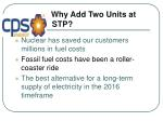 why add two units at stp