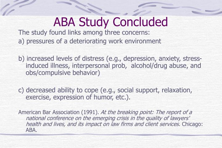 ABA Study Concluded