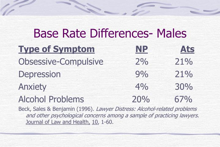 Base Rate Differences- Males