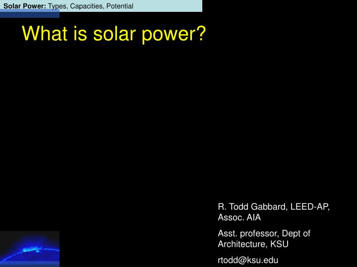 what is solar power n.