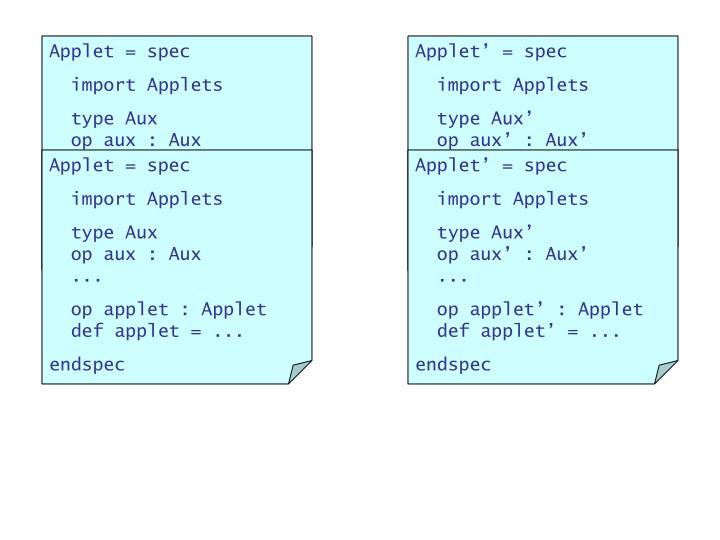 Applet = spec