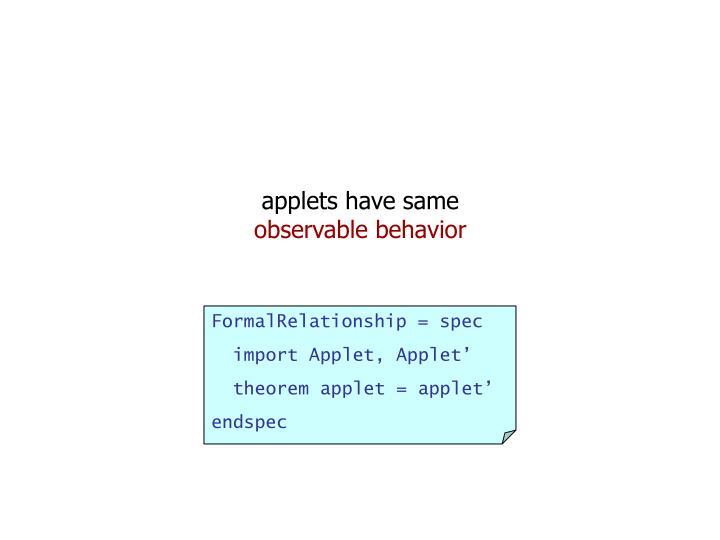 applets have same