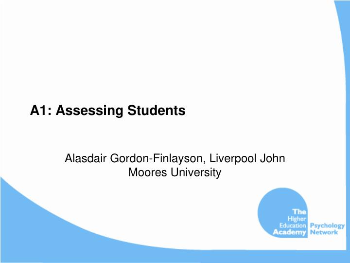 A1 assessing students
