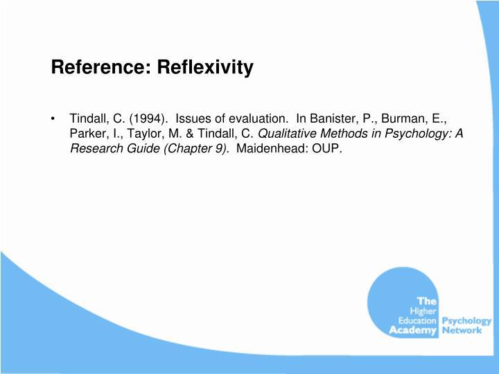 Reference: Reflexivity