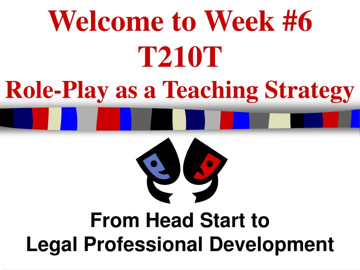 welcome to week 6 t210t role play as a teaching strategy n.