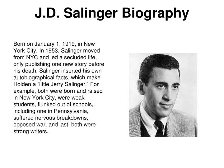 the role of the narrator in the catcher in the rye by j d salinger Free essay on sexuality in catcher in the rye available  sexuality in catcher in the rye jd salinger's most great  also the narrator of.