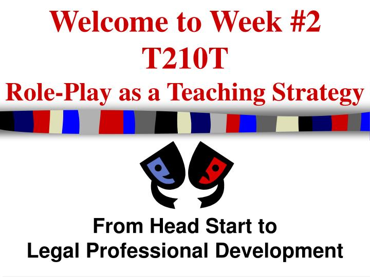 Welcome to week 2 t210t role play as a teaching strategy