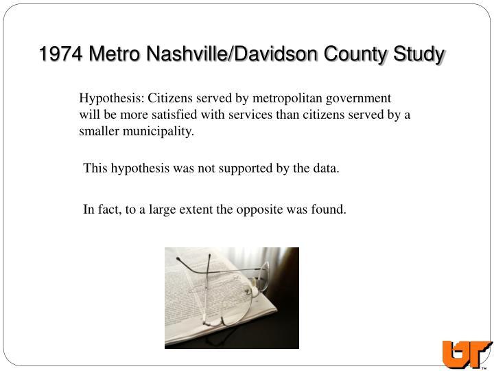 1974 Metro Nashville/Davidson County Study