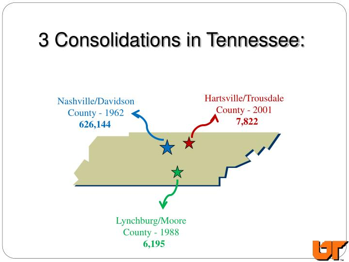 3 Consolidations in Tennessee: