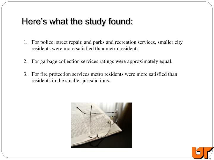 Here's what the study found: