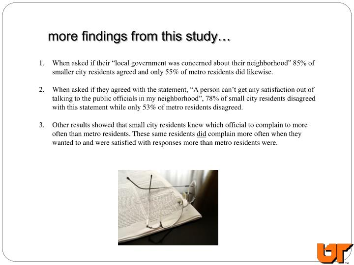 more findings from this study…