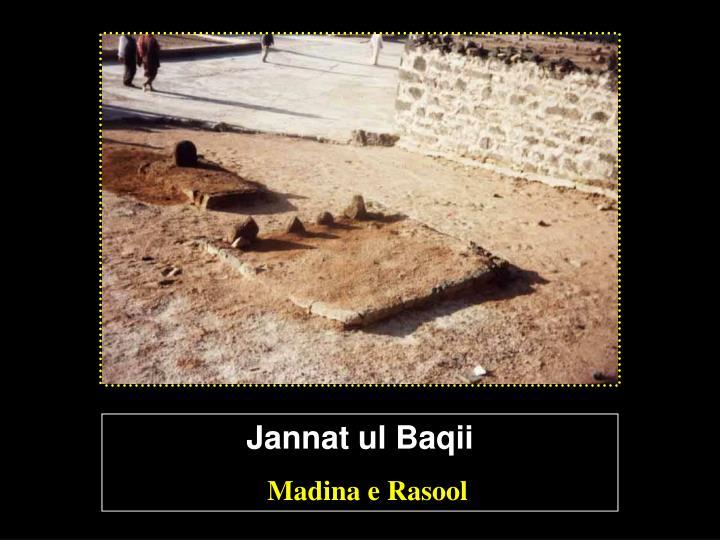 Jannat ul Baqii