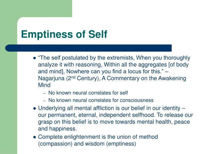 Emptiness of Self