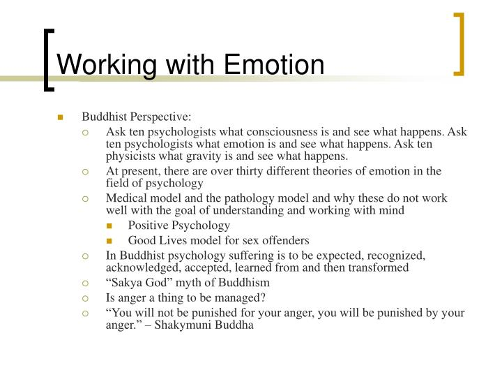 Working with Emotion