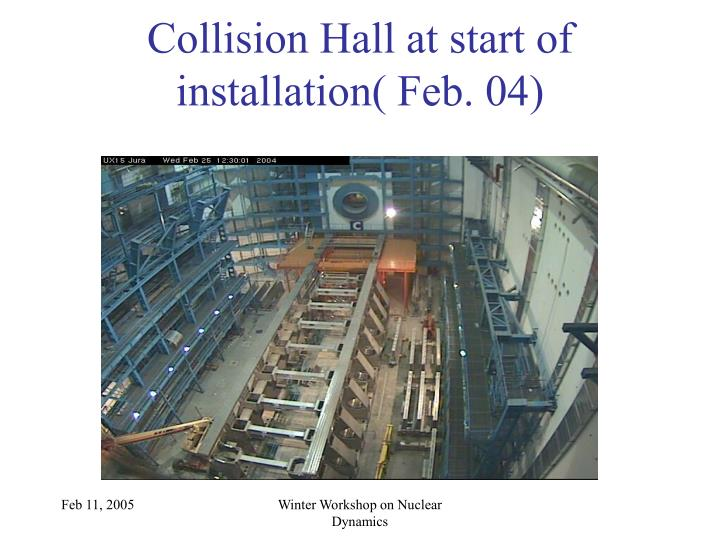 Collision Hall at start of installation( Feb. 04)