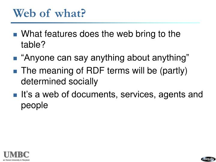 Web of what?
