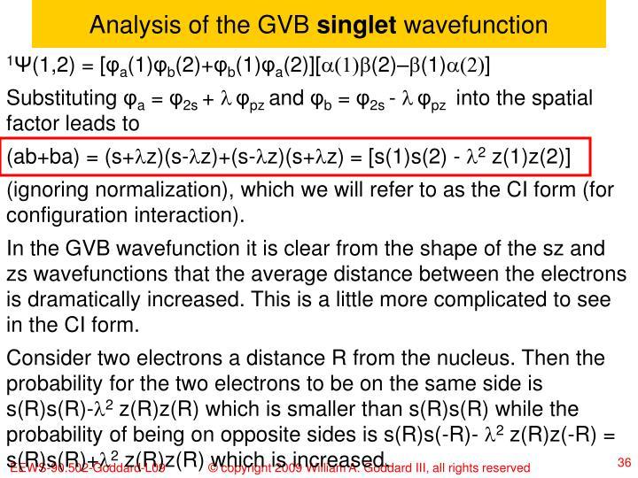 Analysis of the GVB