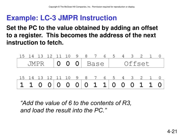 Example: LC-3 JMPR Instruction