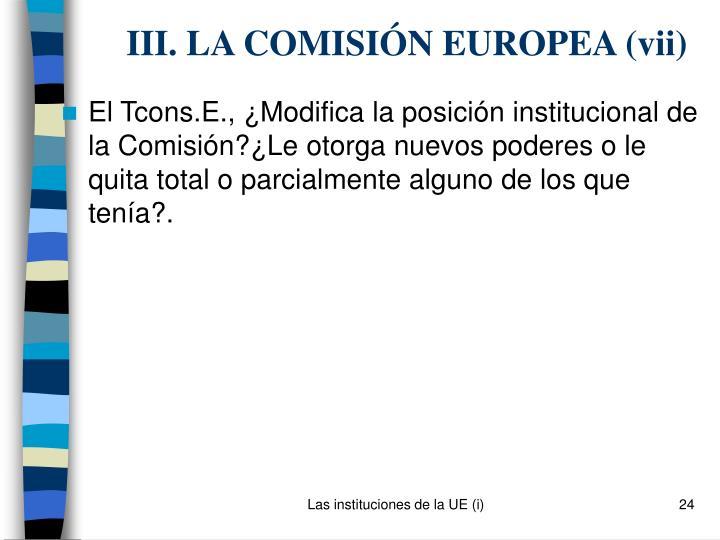 III. LA COMISIÓN EUROPEA (v