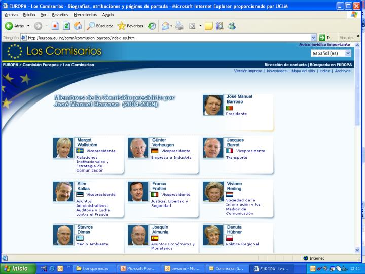 Los comisarios europeos