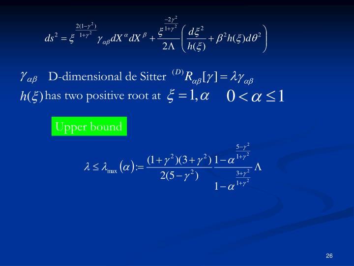 D-dimensional de Sitter