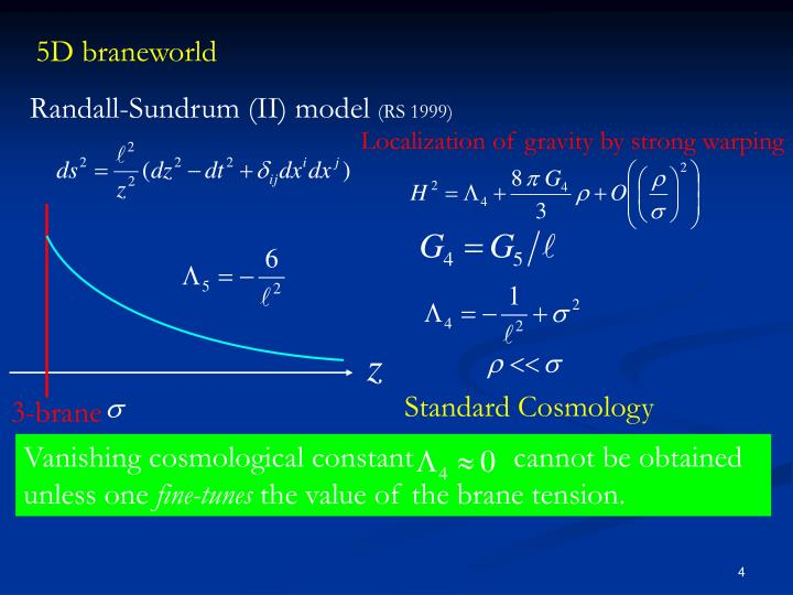 Vanishing cosmological constant             cannot be obtained unless one