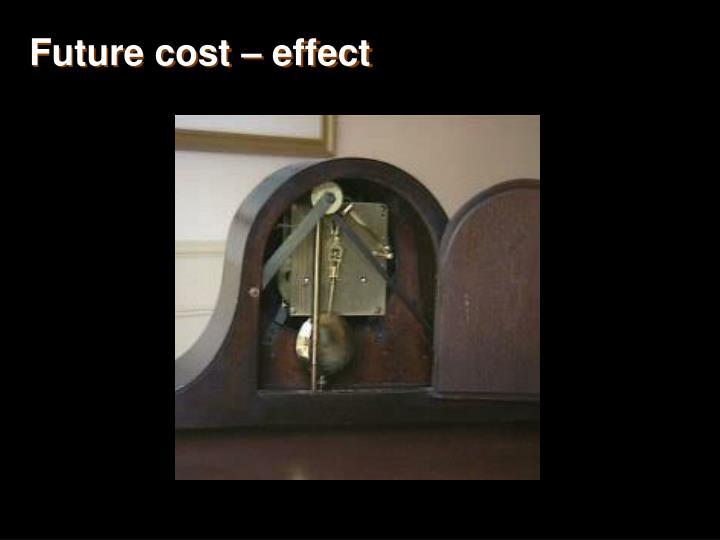 Future cost – effect