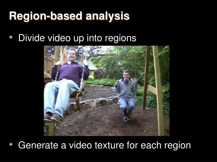 Region-based analysis
