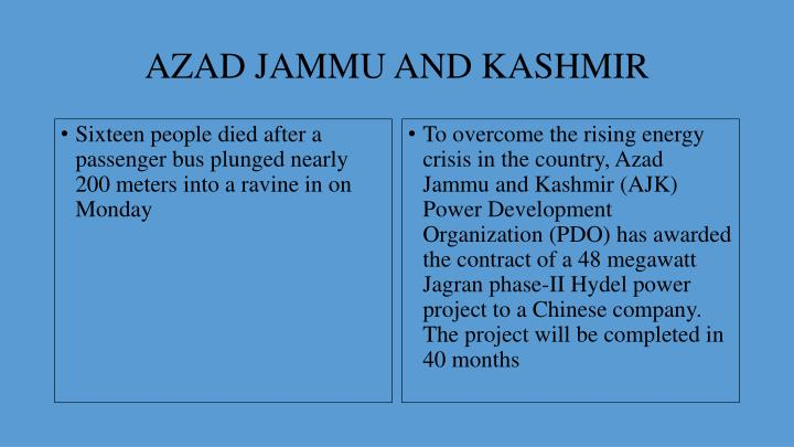 Azad jammu and kashmir