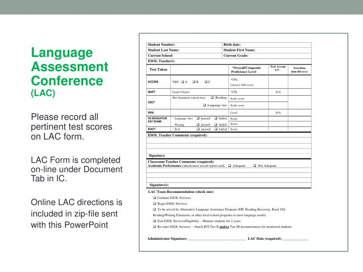 LAC Form (updated)