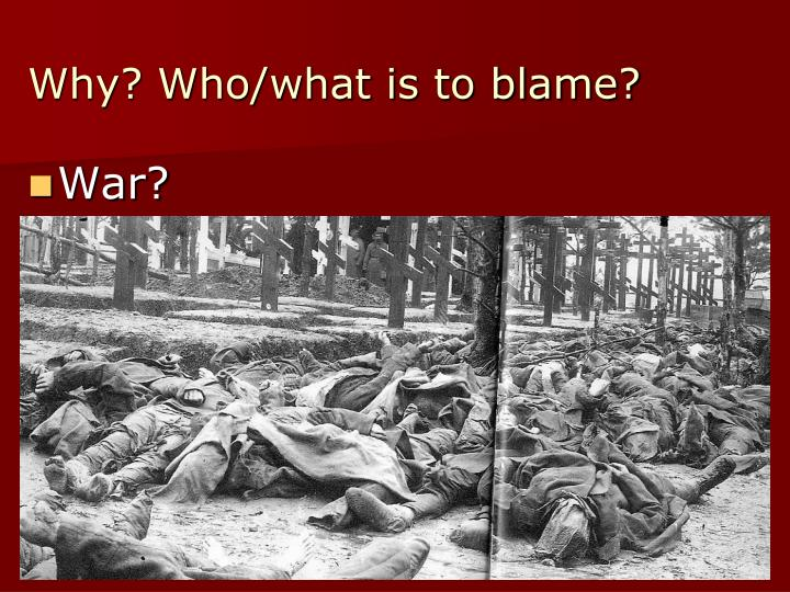 whats to blame