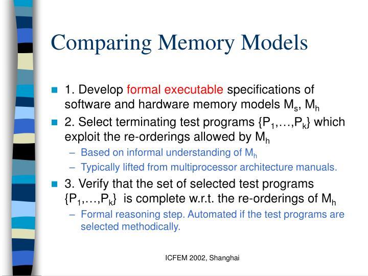 Comparing Memory Models