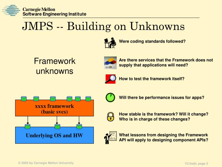 Jmps building on unknowns