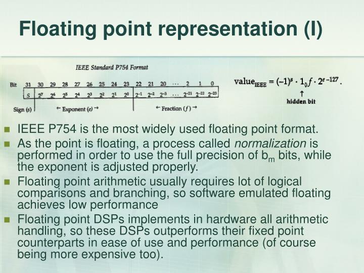 Floating point representation (I)