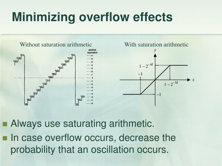 Minimizing overflow effects