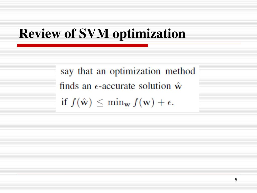 PPT - PEGASOS Primal Estimated sub-GrAdient Solver for SVM